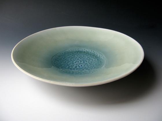 Mønstret porselensfat 2009