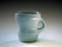 Krakelert celadon kopp